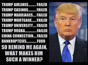 Donald Trump list of failures.